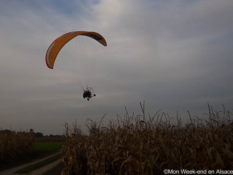First microlight paramotor flight near Colmar