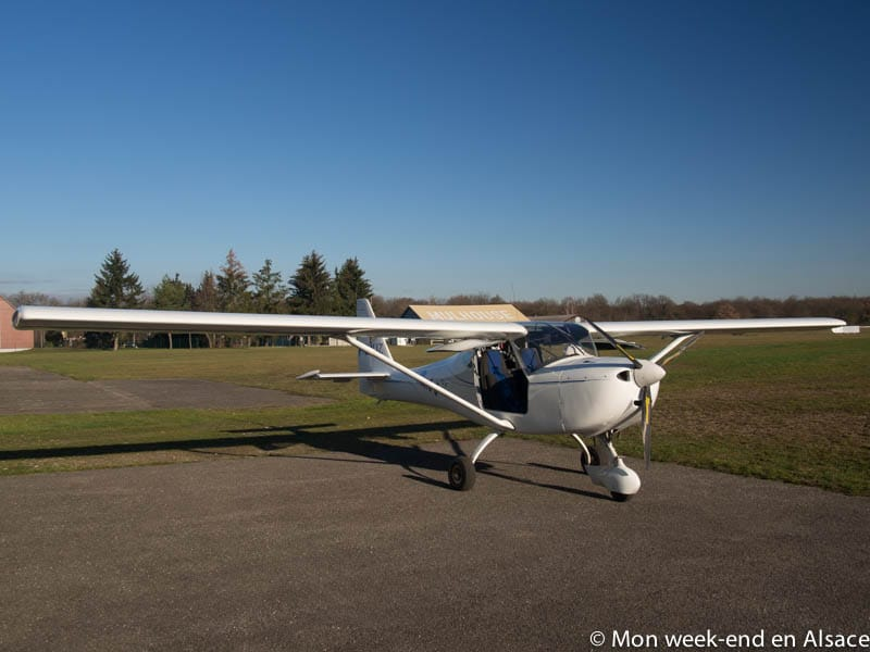 Ultralight airplane flight with Aéros Air in Mulhouse
