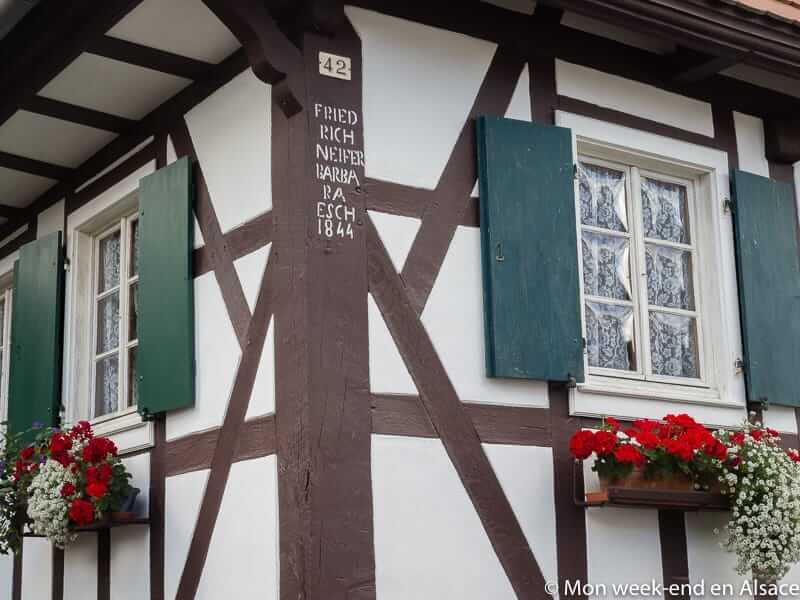Visiting Hunspach, a village in Northern Alsace