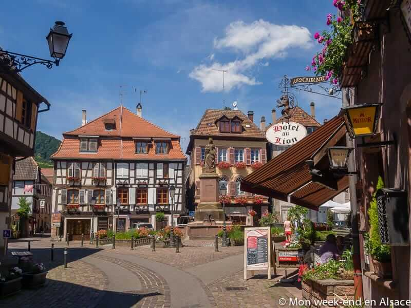 Ribeauvillé, a village on the Alsace Wine Route